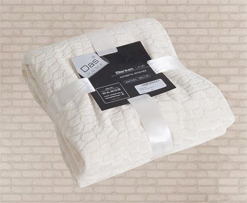 Κουβέρτα Fleece Καναπέ 130Χ170, Blanket Line 047, Das