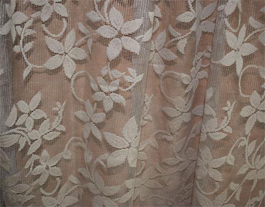Έτοιμη Κουρτίνα Δαντέλα Λουλούδι με Τρούκς, 2.80 X 2.70, VsHome