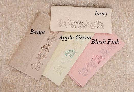 Σετ Πετσέτες 3 Τεμαχίων με Κέντημα, Embroidered Towel Collection Σχ.30, AnnaRiska