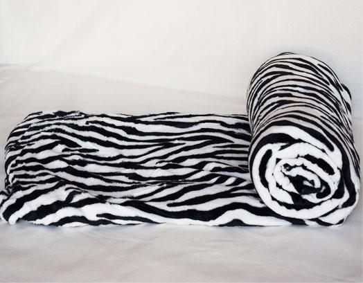 Κουβέρτα Υπέρδιπλη Fleece Zebra, VsHome