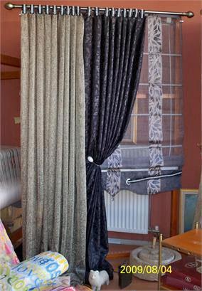 Έτοιμη Κουρτίνα Δίχτυς με Ζακάρ/Σατέν και Οργάντζα Ρόμαν, VsHome