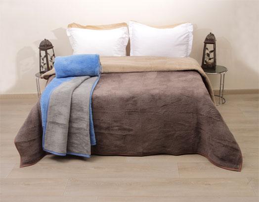Κουβέρτα Μονή, Δίχρωμη Ακρυλική , Viopros