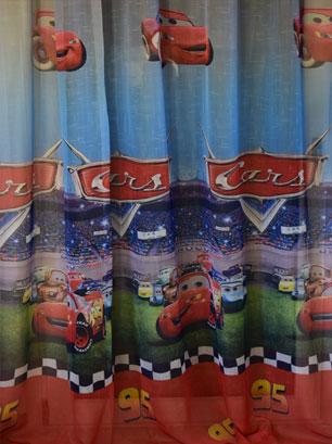 Έτοιμη Κουρτίνα Γάζα 280Χ280, Cars 7990-2, VsHome