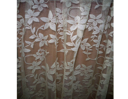 Έτοιμη Κουρτίνα Δαντέλα Λουλούδι, 2.80 X 2.70, VsHome