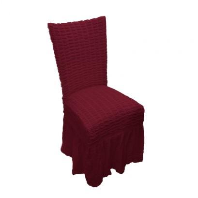Κάλύμμα Καρέκλας, Ελαστικό με Βολάν, VsHome
